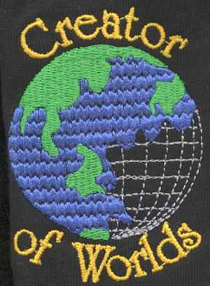 Creator of Worlds Embroidered Shirt