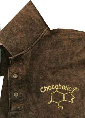 Chocoholic Embroidered Shirt