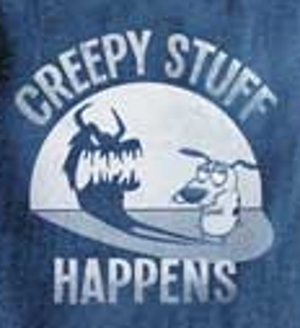 Creepy Stuff Happens Courage the Cowardly Dog T-Shirt