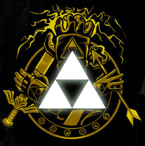 Courage Power Wisdom Zelda Triforce T-Shirt