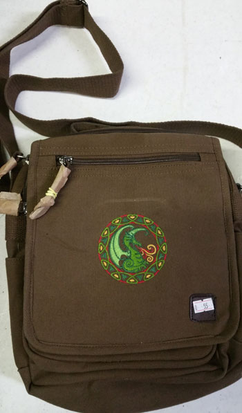 Circle Dragon Square Bag Brown