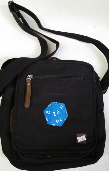 D20 Blue Square Bag