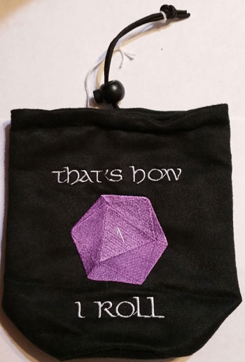 D1 How I Roll Dice Bag Purple