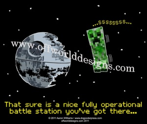 Creeper Deathstar Shirt