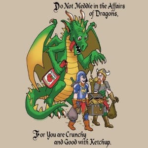 Crunchy Dragon Do Not Meddle T-Shirt
