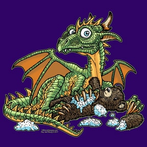 Dragon & Teddy Bear T-Shirt